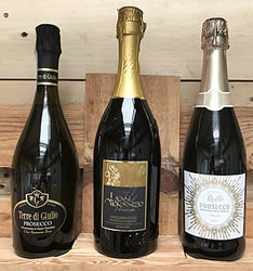 Trio of Prosecco  Total 6 Bottles